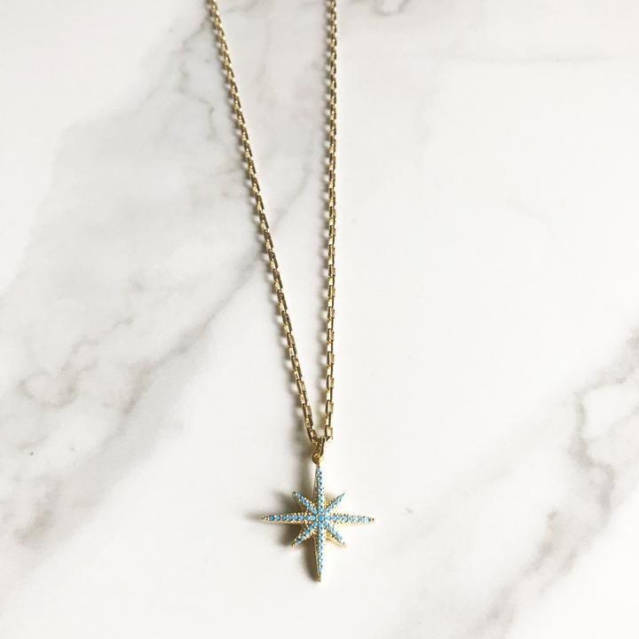 Turquoise North Star Necklace