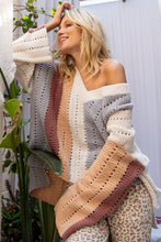 Load image into Gallery viewer, Multi Stripe Sweater