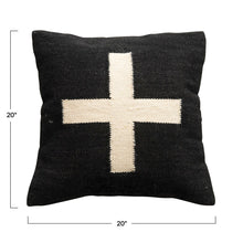 Load image into Gallery viewer, Wool Blend Swiss Cross Pillow