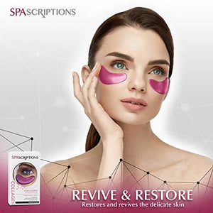 Spa Scriptions Collagen Eye Pads -  Hydrogel Under Eye Pads - Hydrating Eye Mask for Puffy Eyes and Dark Circles (4 Pairs)
