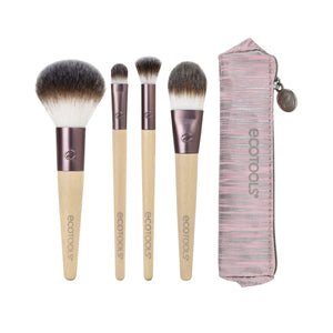 Vegan Make Up Brushes Holiday Shine Essentials Kit