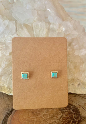 Country Glow Stud Earring Collection Boho Square