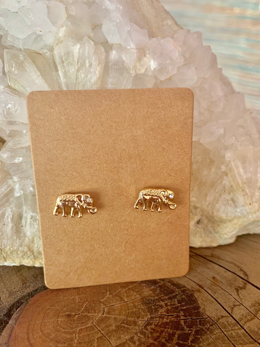 Country Glow Stud Collection Gold Elephant