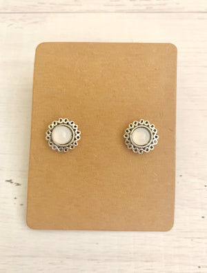Country Glow Stud Collection White Boho