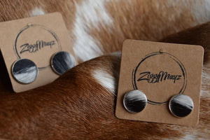 ZiggyMayz Cowhide Earrings 20mm
