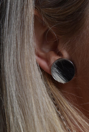 ZiggyMayz Cowhide Earrings 16mm