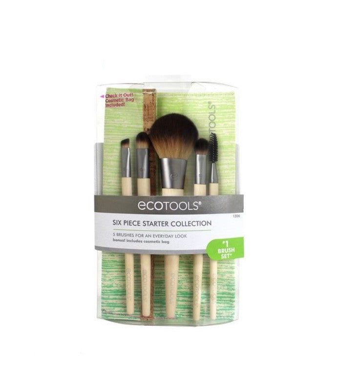 EcoTools 6 Piece Starter Collection Vegan & Eco Friendly Make Up Brushes
