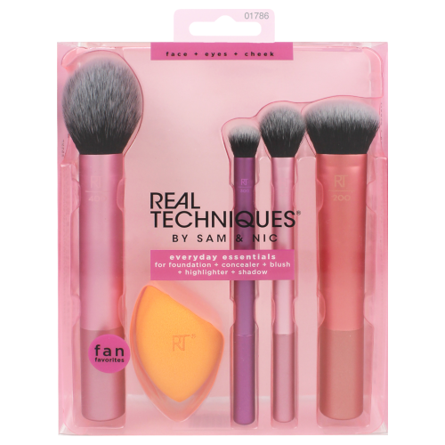 Real Techniques Everyday Essentials Makeup Brush Kit