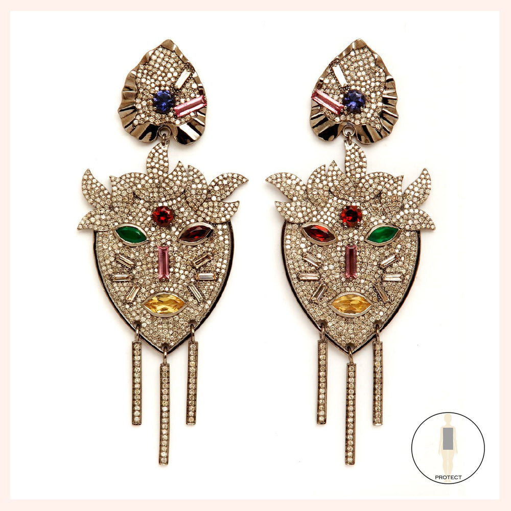 Flora Panthere Earrings