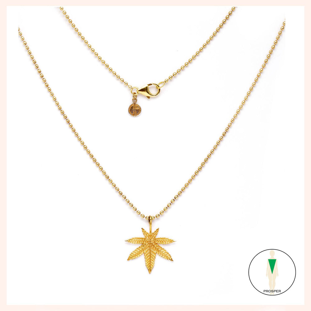 Lighten Up Leaf Feuille de Golden Necklace