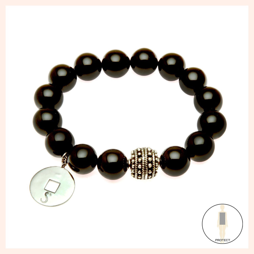 Protection Goddess Amulet Black Onyx Bracelet