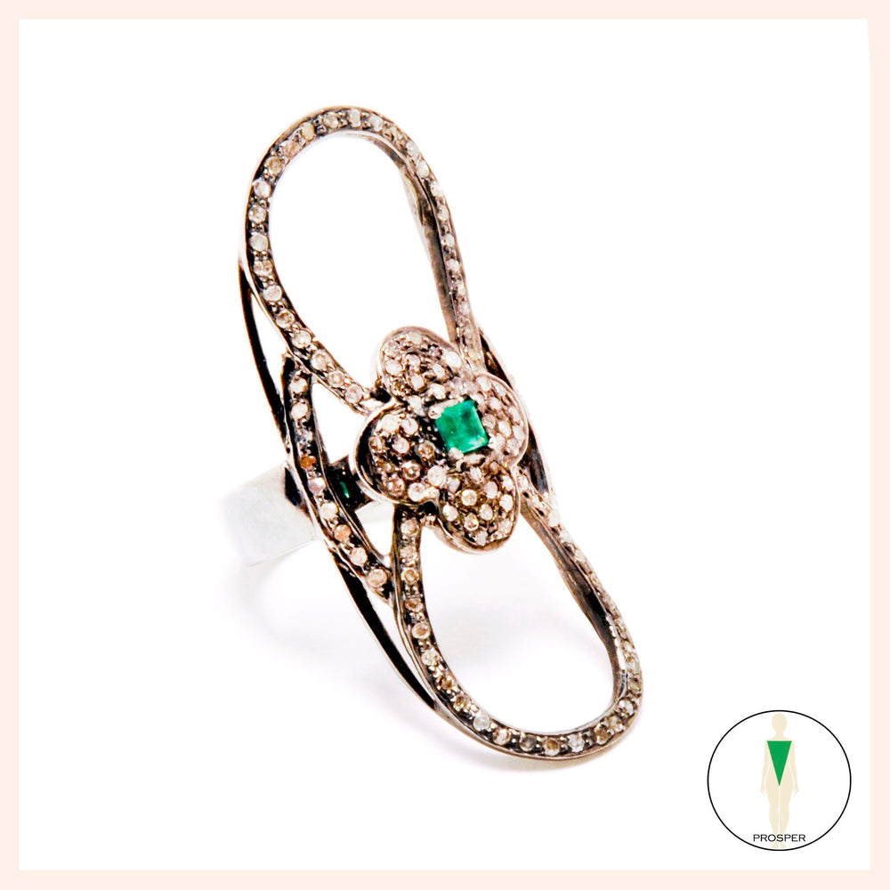 Emerald Love Knot Ring