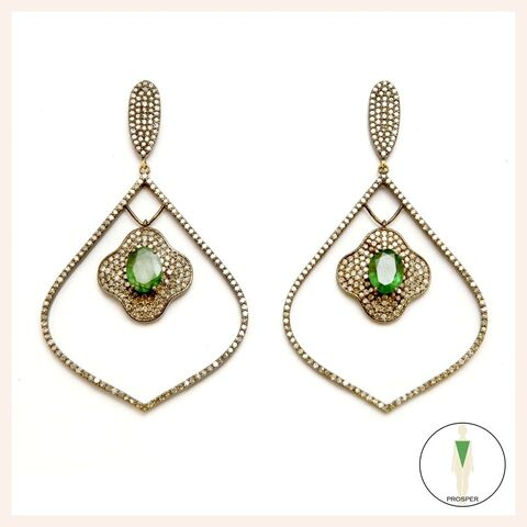 Emerald Arabesque Vert Earrings