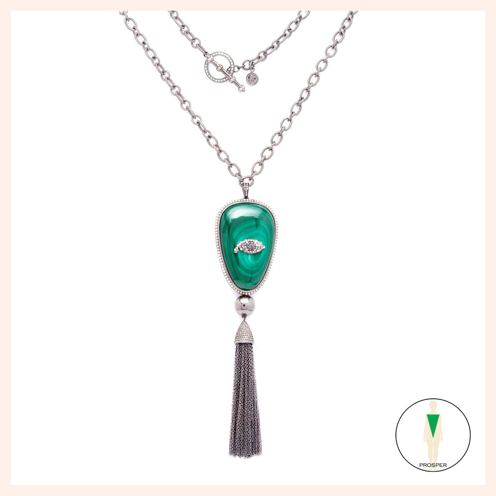 One of a Kind Malachite Oeil d'Amour Necklace