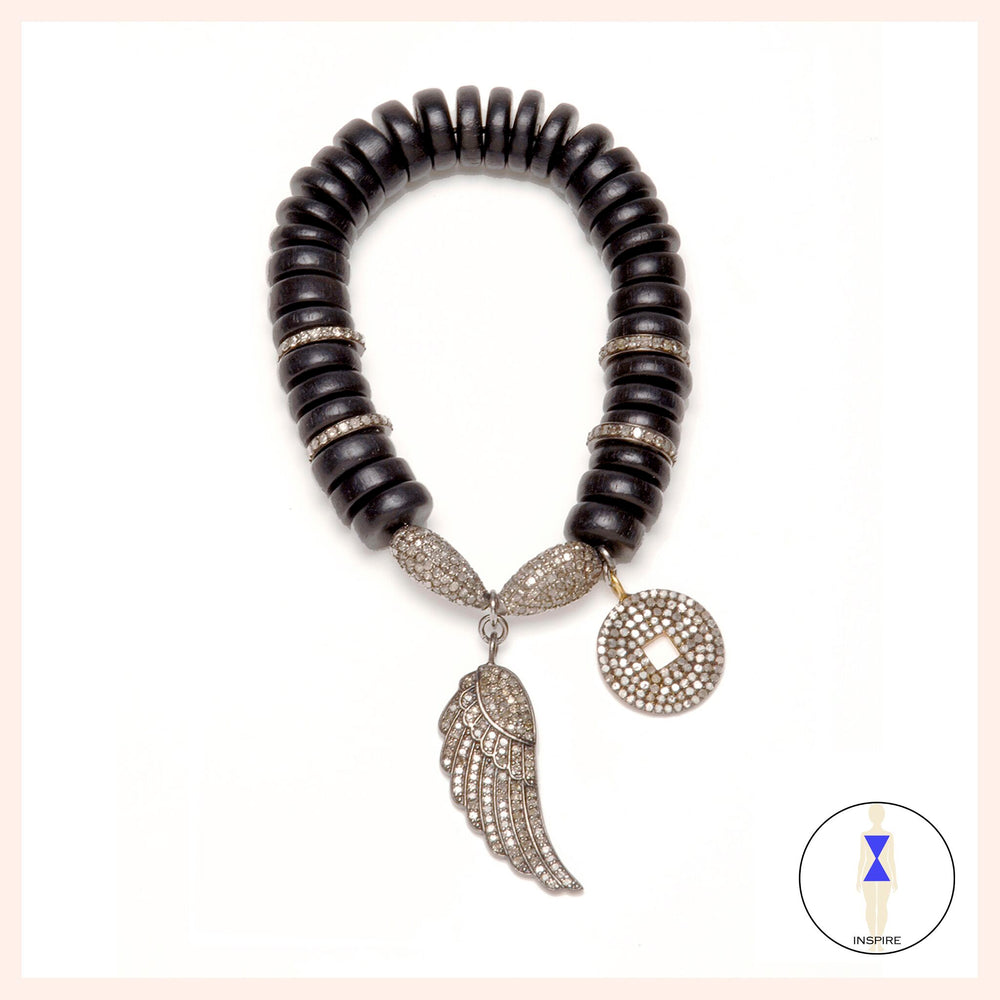 Bodhi Wood Soul Wing Bracelet Black