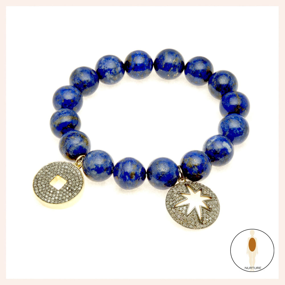 One of a Kind Blue Lapis North Star Bracelet