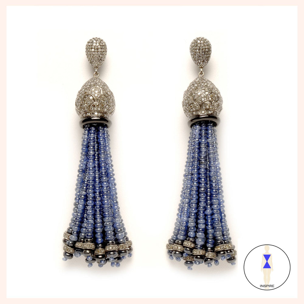 Bleu Tassel Earrings