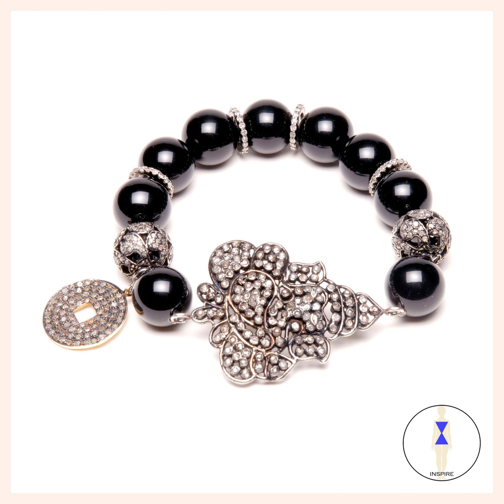 One of a Kind Onyx Yin Ganesh Bracelet