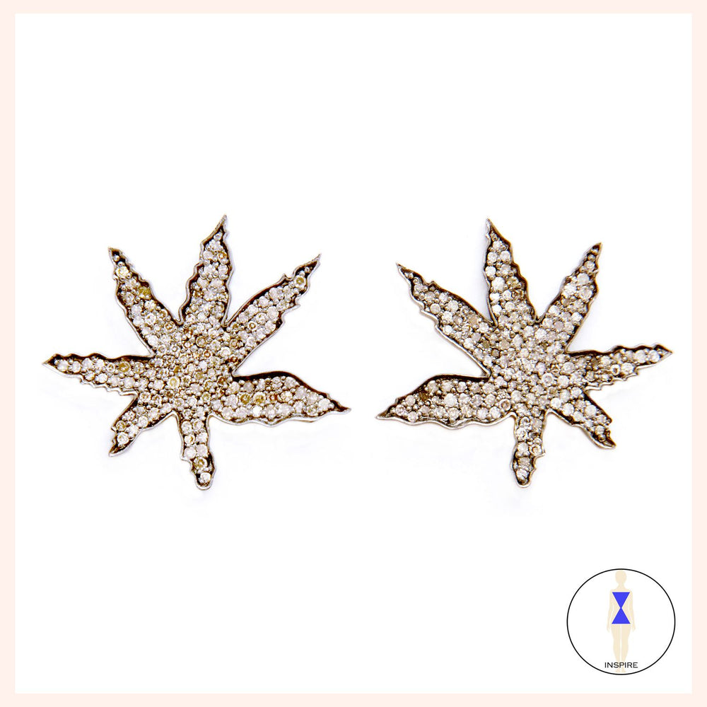 Lighten Up Leaf Stud Earrings