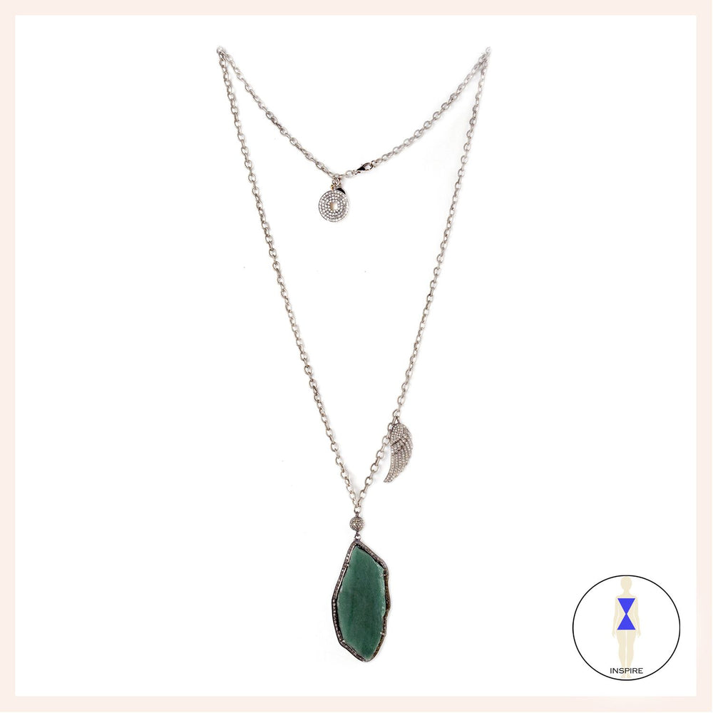 One of a Kind Jade Serenity Wing Necklace