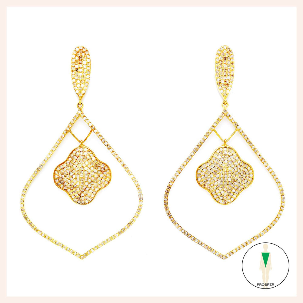 Black Diamond Arabesque d'Or Earrings