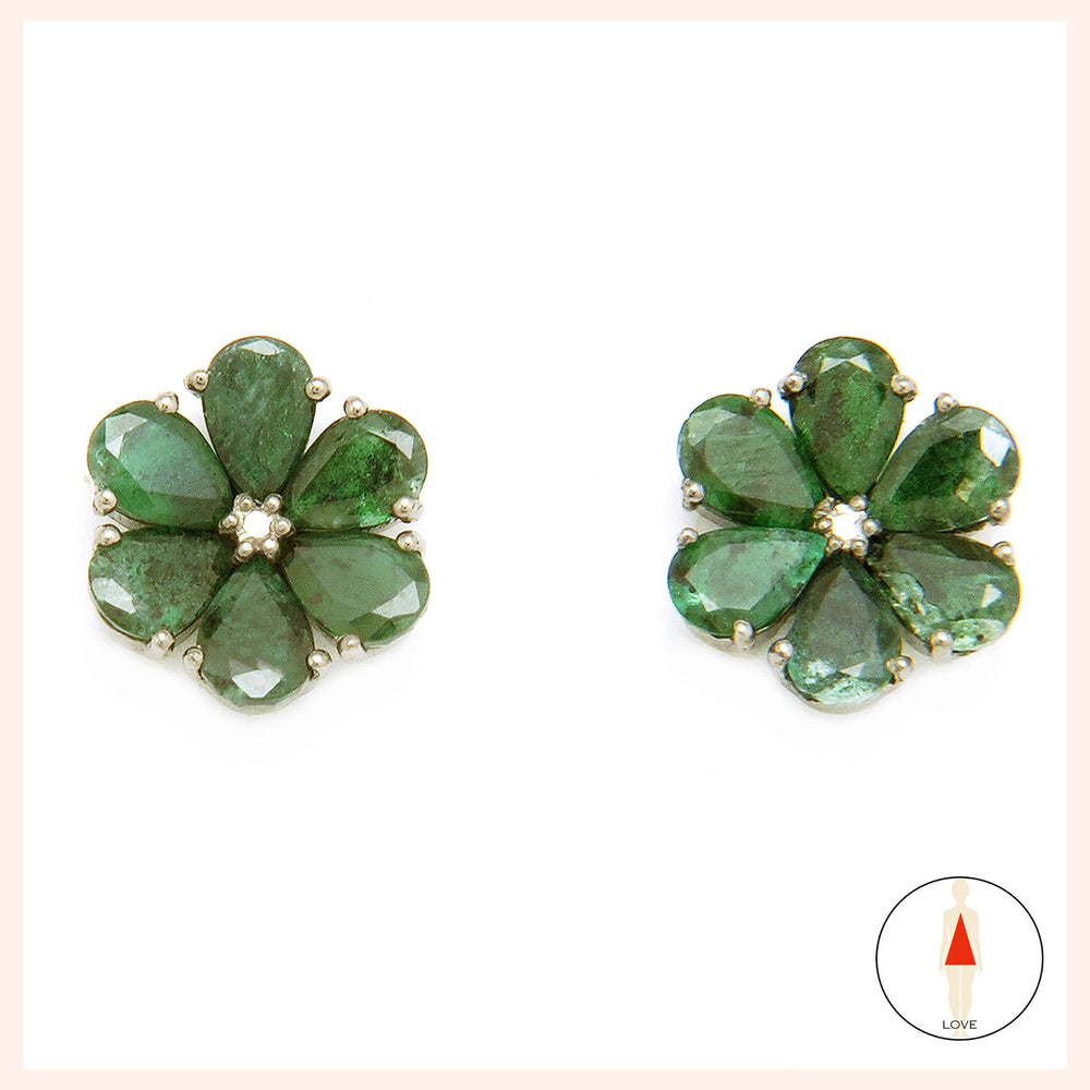 Fleur Verte Stud Earrings