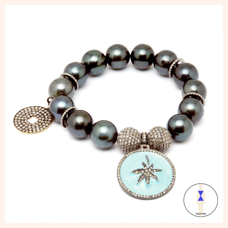 Lighten Up Leaf Tahitian Pearls Bracelet