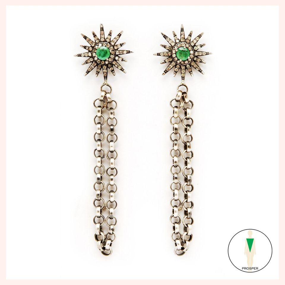 Lein Nirvana Earrings- Emerald
