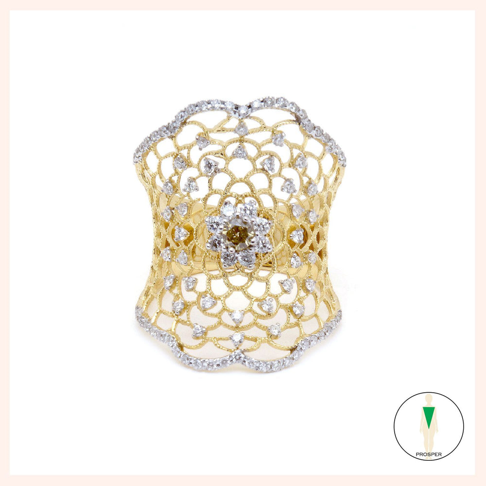 Lotus Arabesque Ring