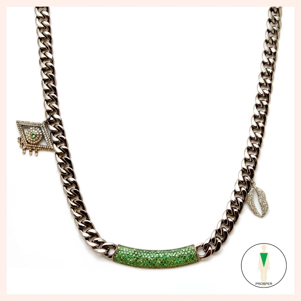 One of a Kind Tsavorite Bobo Art de Vivre Necklace