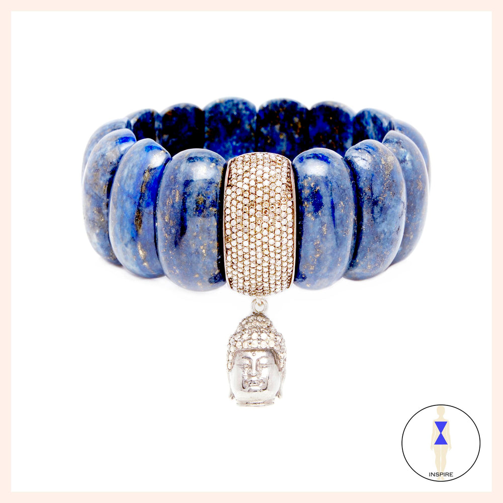 One of a Kind Blue Lapis Gabriella Goddess Bracelet