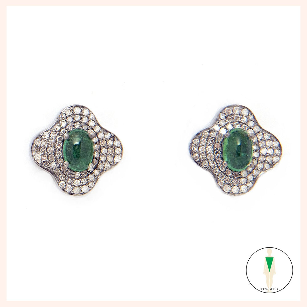Lotus Verte Stud Earrings