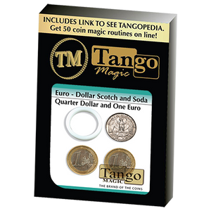Euro-Dollar Scotch And Soda (ED000) (Quarter Dollar and 1 Euro) by Tango-Trick