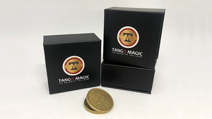 Expanded Shell Coin (50 Cent Euro, Steel Back) by Tango Magic - Trick (E0005)