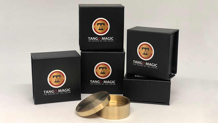 Boston Box (Brass US Quarter) by Tango Magic - Trick (B0011)
