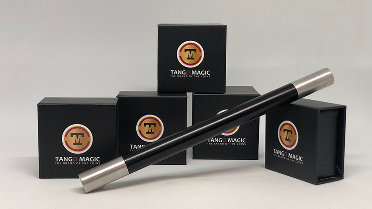 Mini Magic Wand in Black (with silver tips)( W003 ) by Tango-Trick