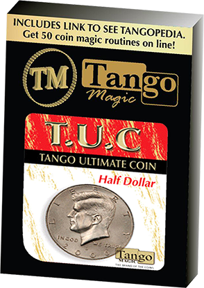 Tango Ultimate Coin (T.U.C)(D0108) Half dollar with instructional video by Tango - Trick