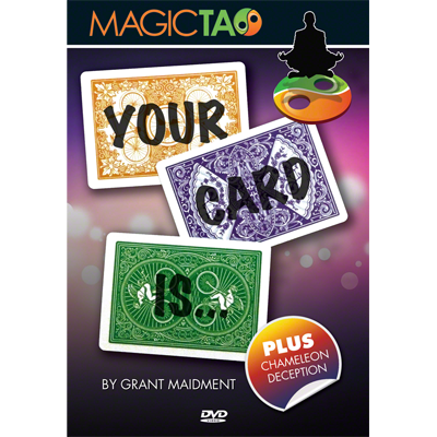 Your Card Is (DVD y Gimmick) de Grant Maidment y Magic Tao - DVD.