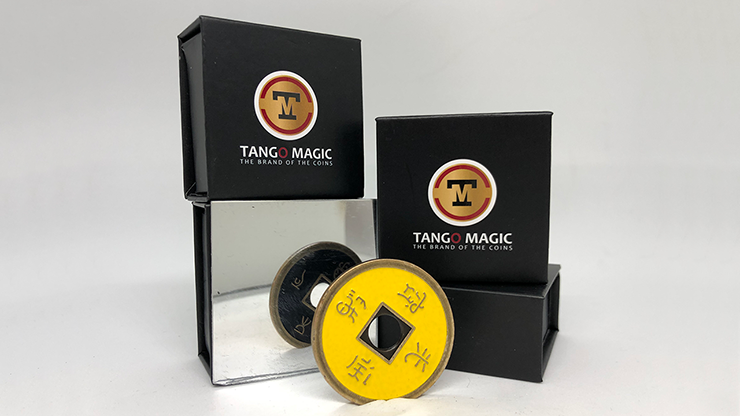 Dollar Size Chinese Coin (Black and Yellow) by Tango (CH035).