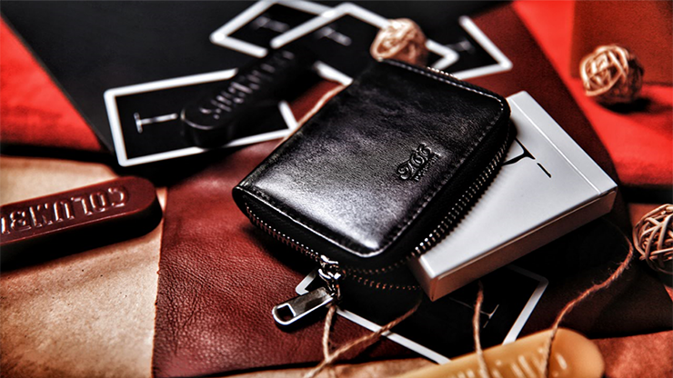 Zipper Playing Card Case (Artificial Leather) by TCC