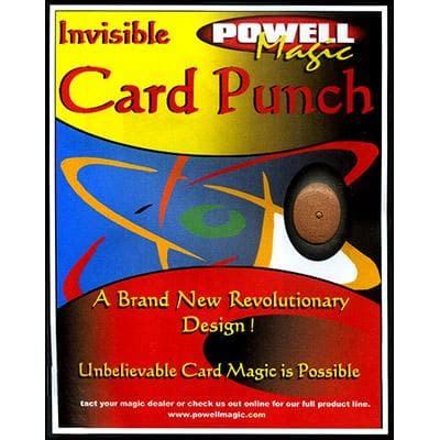 Invisible Card Punch von Dave Powell - Trick.