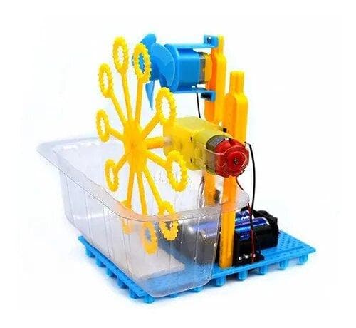DIY (Do It Yourself) Bubble Machine zum Ensamble. Es klappt!.