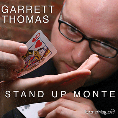 Stand Up Monte (Jumbo Index) DVD and Gimmick by Garrett  Thomas and Kozmomagic  -DVD.