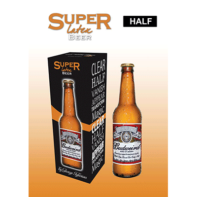 Super Latex Brown Beer Bottle (Half) by Twister Magic