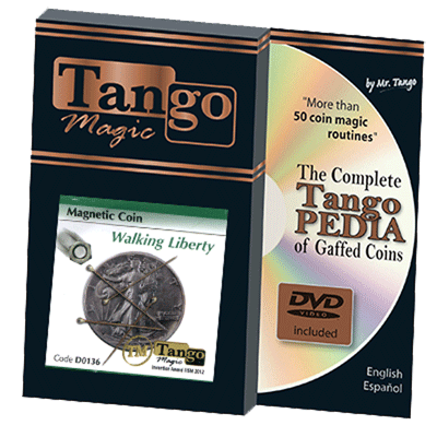 Magnetic Coin Walking Liberty (w/DVD) (D0136) by Tango - Tricks.