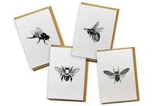 Load image into Gallery viewer, Card 4-Pack - Bees