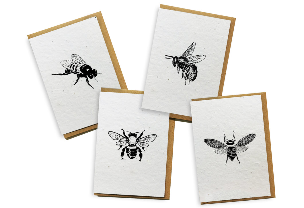 Card 4-Pack - Bees