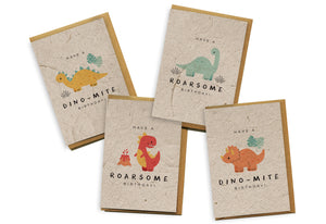 Card 4-Pack - Dinosaurs