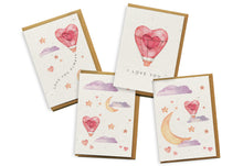 Load image into Gallery viewer, Card 4-Pack - I Love You Air Balloon