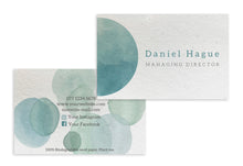 Load image into Gallery viewer, Business Cards - Teal Watercolour